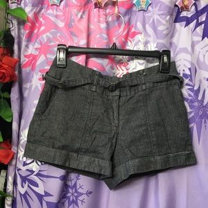 Forever 21 Pin stripe Dark Gray Shorts